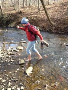 Jenny crossing Robeson Creek