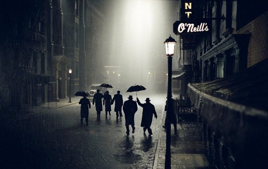 Beautifully photographed fateful night on a dark, rainy street.