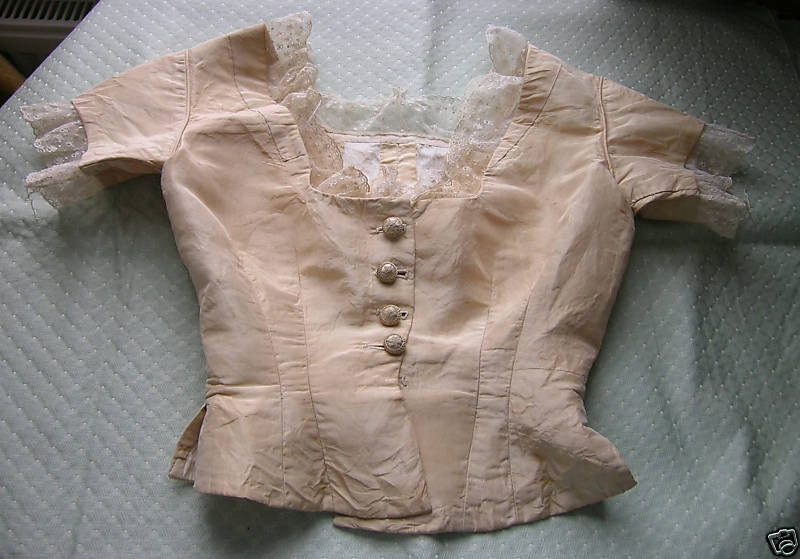 Devon UK silk bodice