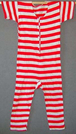 Swimsuit 1910 red Meg Andrews