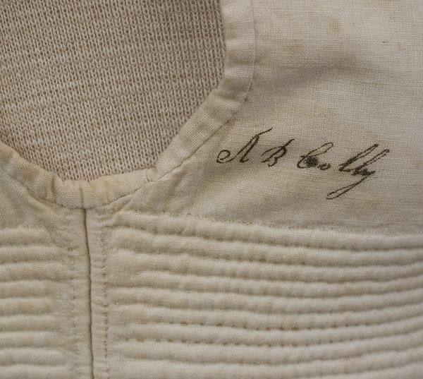 c 1820 Vintage Textile signature