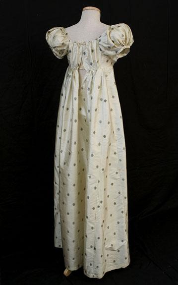 Dress metalic brocaded 1810 VT