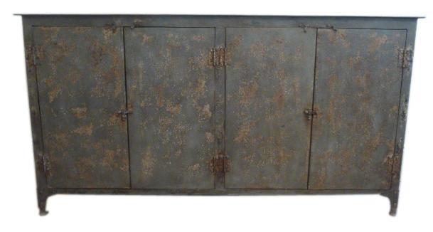 1stdibs Industrial metal cabinet
