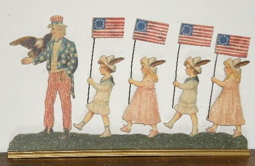 Cindy Fenton Uncle Sam and children die cut