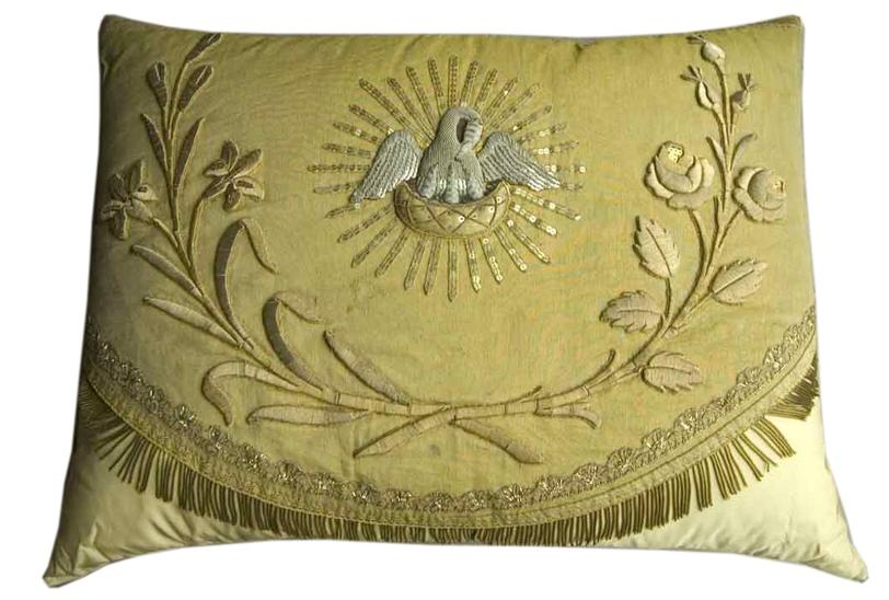 Gold trim 19th c ecclessiastic remnants pillow 1stdibs