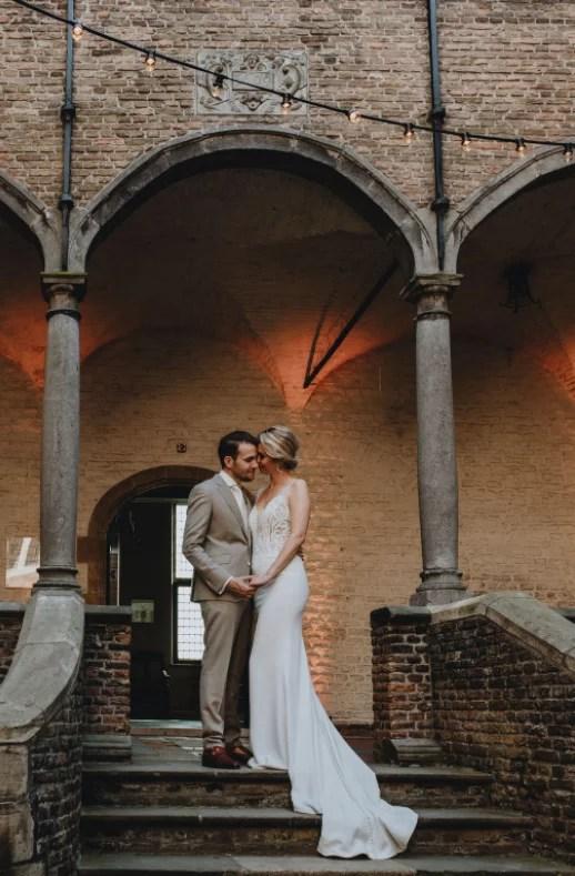 bruidsfotoshoot in kasteel