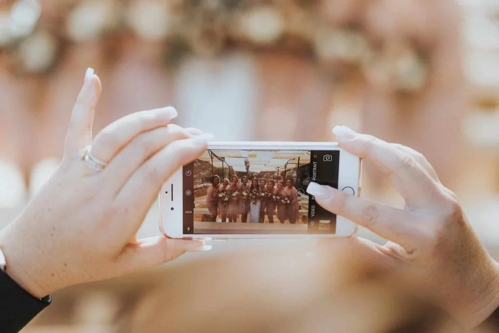 social media bruiloft