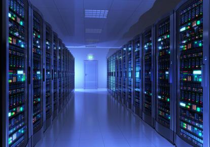 Server room interior