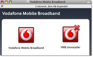 Come disinstallare il software Vodafone Mobile Broadband su Mac