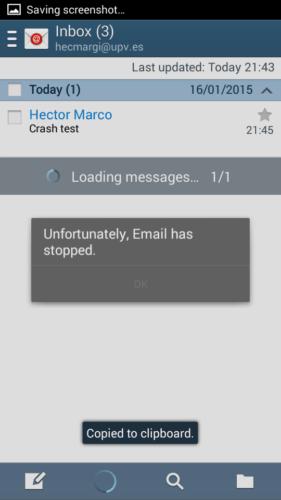 Mail fallata su Android 4.2.2.0200 Jelly Bean, rischio DoS (News)