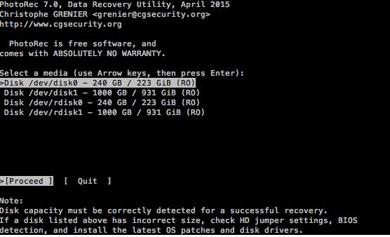 Recuperare foto o file da cancellati con TeskDisk da un disco esterno (Guide, Assistenza Tecnica)