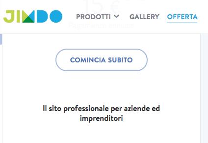 Sitebuilder Jimdo (Recensioni servizi)