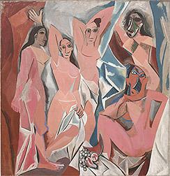 Les Demoiselles Painting