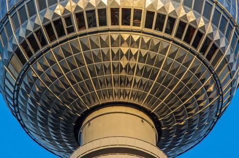 The windows of the Berliner Fernsehturm (TV Tower).