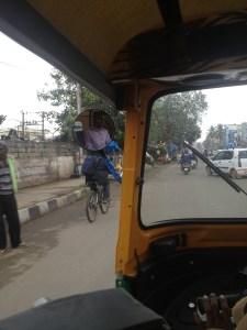 Riding in Rickshaw India Travel