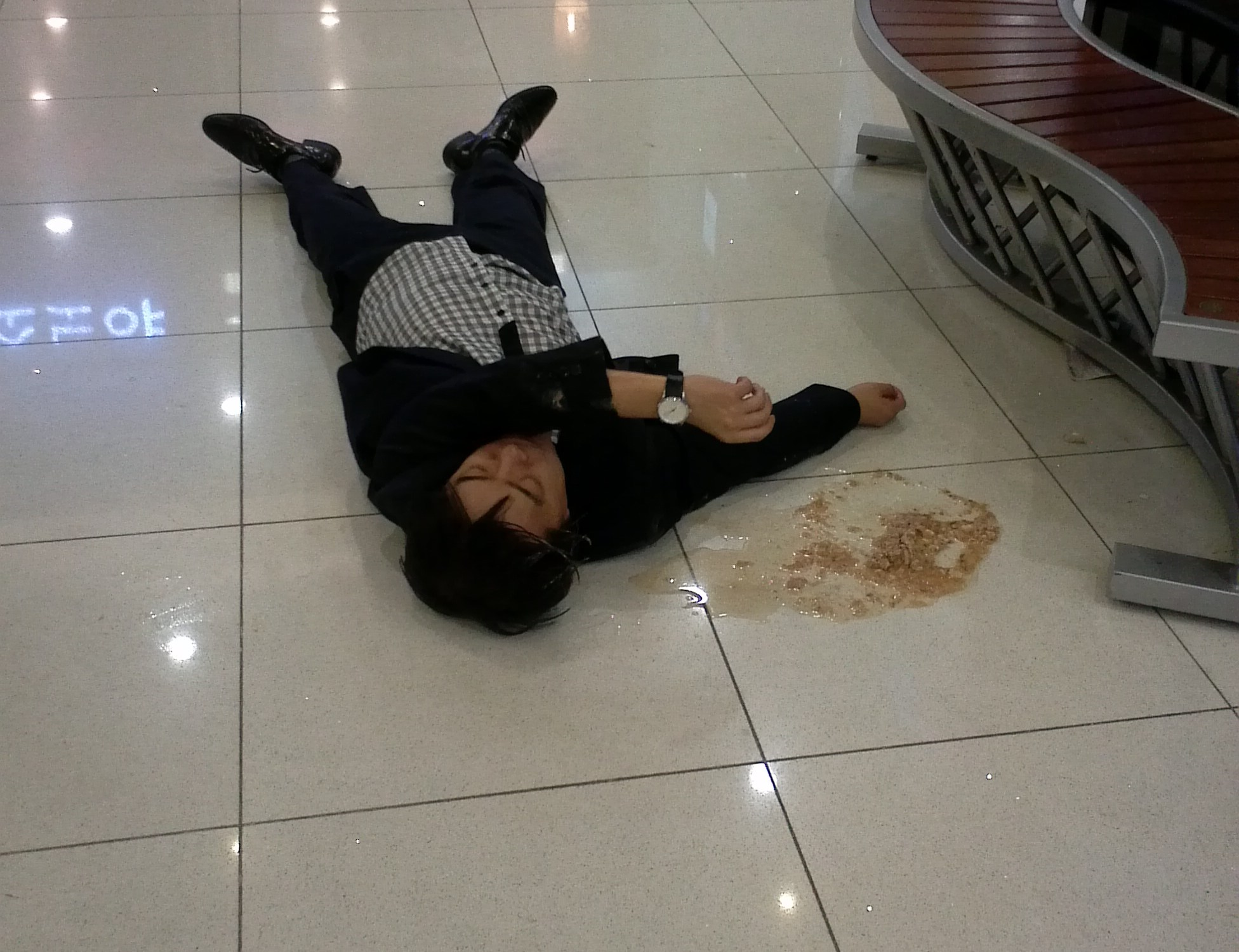 Korea Drunk Throwup