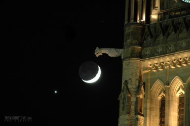 Venus, the Moon, and the Peace Tower