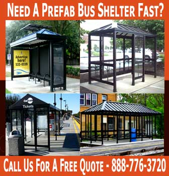 Prefab Bus Shelter Sales, Design & Installation Services Nation Wide