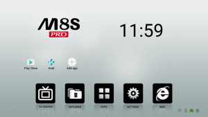 MECOOL M8S PRO TV Box Home Screen