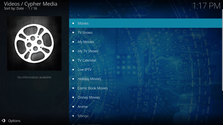 That's it! The Cypher Media Kodi Add-on is now successfully installed