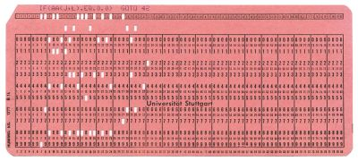 FORTRAN punched card