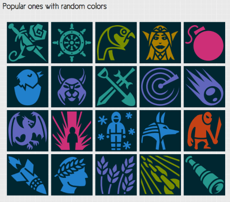 icons from Game-icons.net