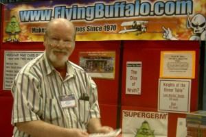 Rick Loomis in the Flying Buffalo booth