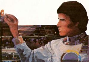 Atari BASIC Cartridge astronaut from manual