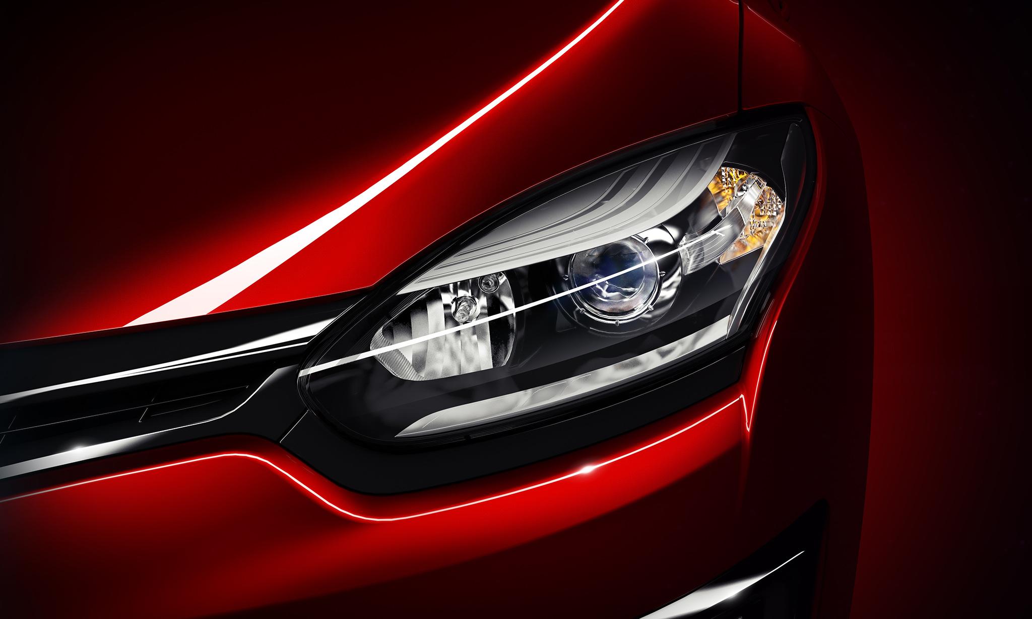 Renault Megane Headlamp - CGI