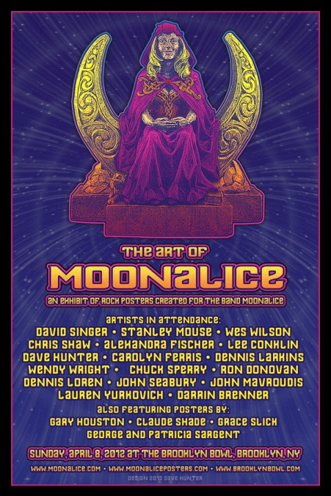 The Art of Moonalice Brooklyn Bowl Poster Show (graphic by Dave Hunter)
