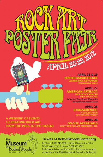 Bethel Woods Rock Art Poster Fair - April 28-29, 2012