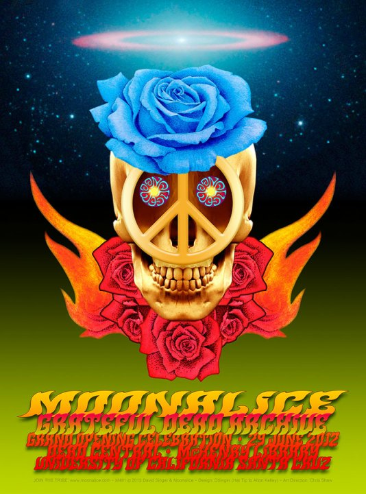Moonalice at the Grateful Dead Archive poster by David Singer