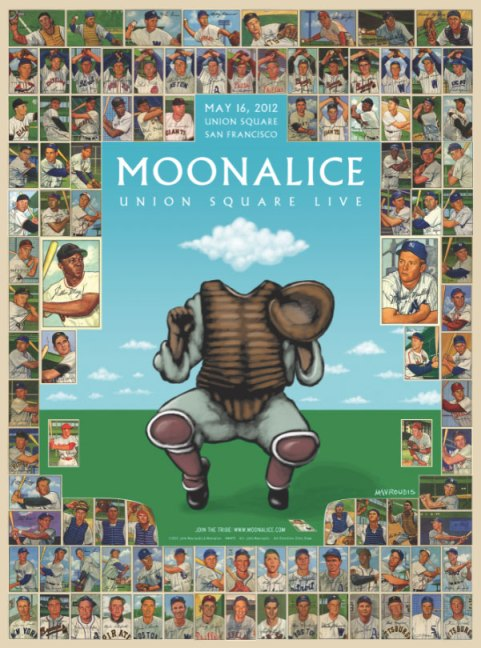 Moonalice at Union Square poster by John Mavroudis