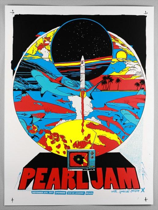 Pearl Jam, November 6, 2011, Rio de Janeiro, Brazil.