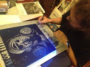 Stanley Mouse Signs Avalon Plate