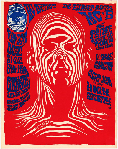 MC5 rock poster by Gary Grimshaw
