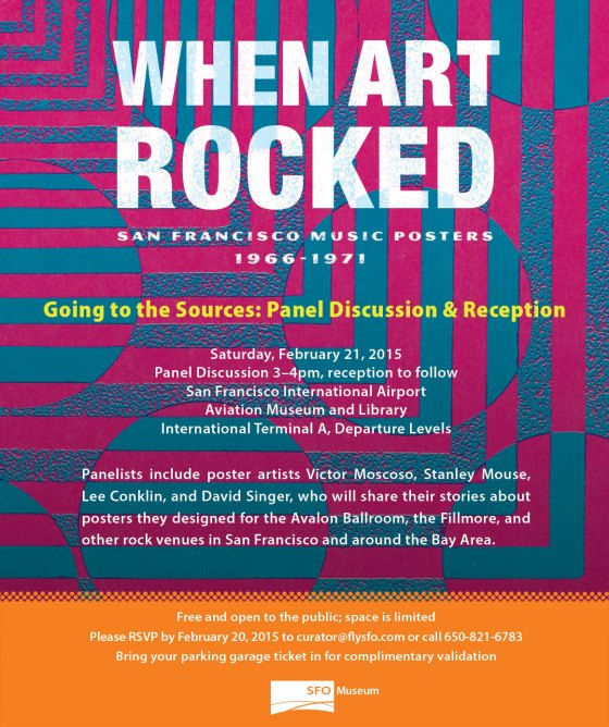 When Art Rocked Panel Discussion and Reception at SFO