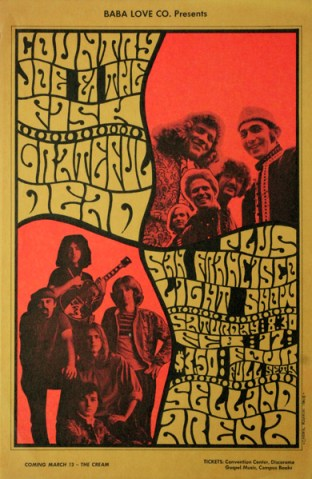 Country Joe poster by Cheryl Rankin, 1968