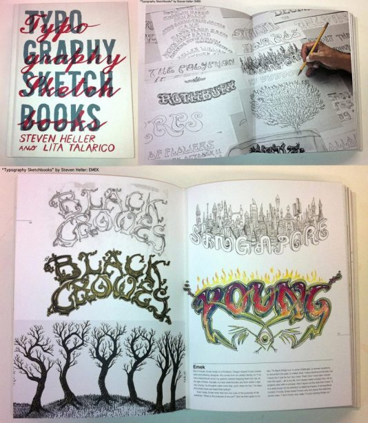 EMEK featured in Typography Sketchbooks