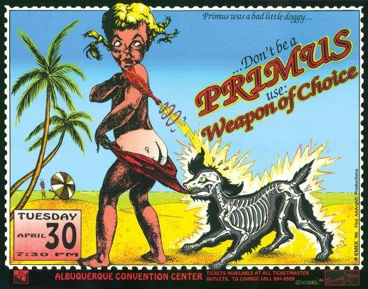Primus at Albuquerque poster by EMEK, 1996