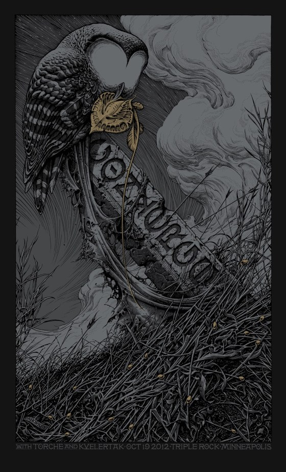 Converge rock poster by Aaron Horkey, 2012