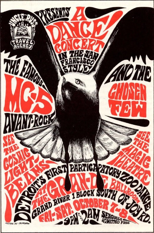 Rock poster by Gary Grimshaw