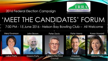 2016 'Meet The Candidates' Forum Flyer 1