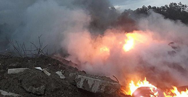 В пригороде Лефкоши пожар уничтожил 20 донумов земли
