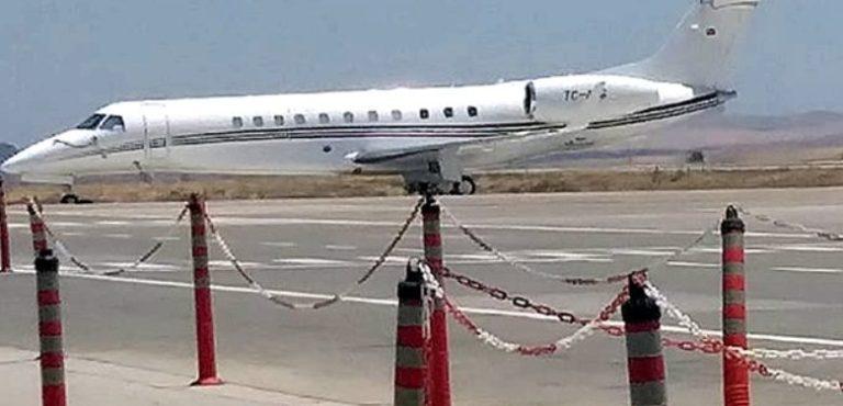 Снова частный самолет приземлился в аэропорту Эрджан