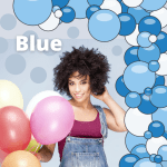 Balloon Garland Kit Blue Shades Tru B Loons