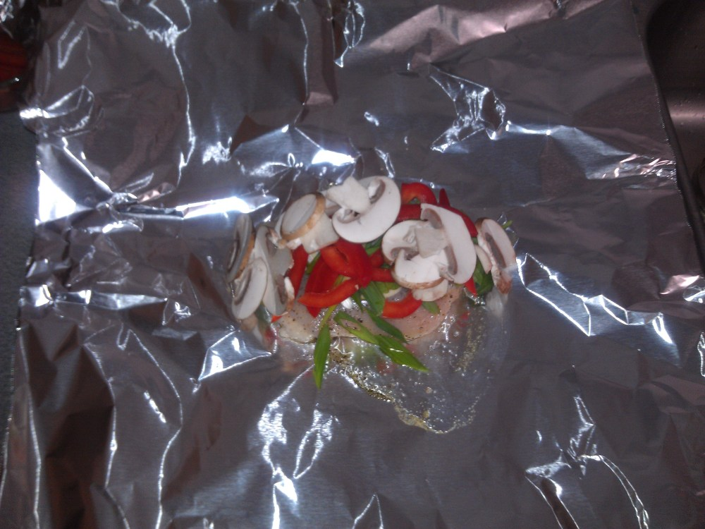 Healthy Baked Chicken Or Fish, Meal In A Foil Pouch; Recipe (3/5)