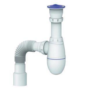 Фото – прямоточный сифон для прокладки внутренней канализации