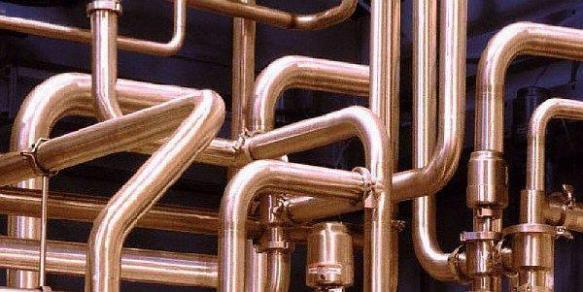 Фото – фрагмент системы отопления из меди