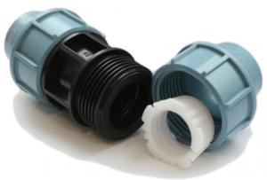 Фото: Компрессионные фитинги для полиэтиленовых труб